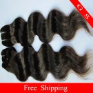 Virgin Indian Hair Weft Remy Human hair Extensions Body Wave 20Inches 3pks,12oz Black and brown