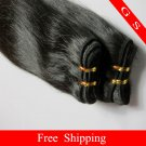 Indian Hair Weft Remy Human Hair Extensions Straight 26Inches 3pks 12oz off Black