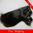 100%Indian Human Hair Weft Virgin Human Hair Extensions Straight,20inch 2pks,8oz,off Black
