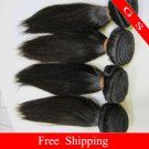 12 Virgin Brazilian Remy Human Hair Weft silk Straight 16oz 4pks off Black