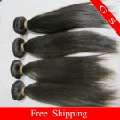 18 Virgin Brazilian Remy Human Hair Weaving Extension silk Straight 16oz 4pks off Black