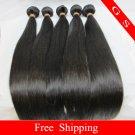 20 Virgin Brazilian Remy Human Hair Weaving Extension silk Straight 16oz 4pks off Black
