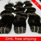 "Virgin Brazilian Human Hair Extensions Weft Weaving body Wave 14""+16""+18"" 3pks 12oz off Black"