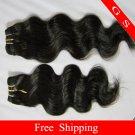 "Virgin Brazilian Human Hair Extensions Weft Weaving body Wave 16""+18""+20"" 3pks 12oz off Black"