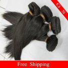 "Hotsale Brazilian Virgin Remy Human Hair Weft Weaving Straight 14""+16""+18"" 3pks 12oz off Black"