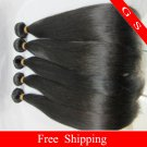 "Brazilian Virgin Remy Human Hair Extensions Weft Weaving Straight 18""+20""+22"" 3pks 12oz off Black"