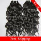 "Free shipping Brazilian Human Hair Weave water Wave 14"" 12oz Retail"