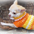 Handmade Hand Crochet Dog Clothes Puppy Sweater Myknitt D811 XXS