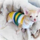 Handmade Hand Crochet Knit Dog Puppy Tee Shirts Myknitt D812 M