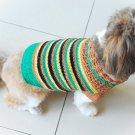Handmade Hand Crocet Knit Baby Dog Sweater Clothes Myknitt D813 XXS
