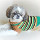 Handmade Hand Crocet Knit Baby Dog Sweater Clothes Myknitt D813 S