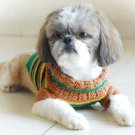 Handmade Hand Crocet Knit Baby Dog Sweater Clothes Myknitt D813 M