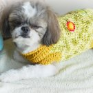Small Dog Clothes Hand crochet Dog Sweater D814 S
