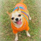 Small Dog Sweater, handmade crochet cotton yarn D816 S - Free shipping