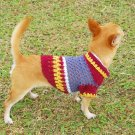 Hand Crochet Dog Clothing , Warm dog Sweater , Pet Clothes D817 XXS - Free shipping