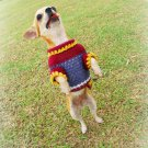 Brown Handmade Dog Clothing , Puppy Sweater Cotton D817 XS - Free SHipping