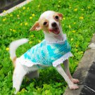 Crochet Cotton Dog Dress , luxury Puppy Dress D819 XXS - Free shipping