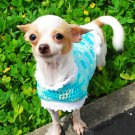 Robin egg blue Chihuahua Dress, Dog Costume, Dog Dress D819 XS - Free Shipping