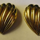 Vintage Gold Heart Pierced Earrings AVON Gold Tone