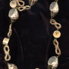 Tropical Spiral Spotted Shell and Bone Necklace 28""