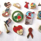 Hat Lapel Pins (20) Vintage to New Enamel Mixed Lot Flag Avon Bocce Daddy's girl