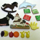 Assorted  Refrigerator Magnets Wood Lighthouse Scottie Appin Fruit Dolphin Xmas
