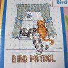 Janlynn Cross Stitch Kit Cat-A-Tudes Priorities 5x7 Frame 157-44 Bird Patrol
