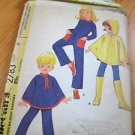 Vintage McCall's Child PONCHO & JUMPSUIT Sewing Pattern #2783 COMPLETE CUT Sz 6