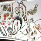 Lot Of Vintage & Modern Mixed Jewelry Lot Necklaces Handpainted Pin Wear Craft