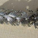 """Vintage Silver Tone Leaf Link Bracelet 7"""""""