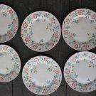 "Churchill Briar Rose Dinner Plates 10"" Set Of 6 Staffordshire Microwave Dishwash"