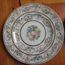 6 Taylor Smith 22kt Karat Gold Warranted 10461 Floral Flowers Cream Plates RARE