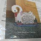 Plastic Canvas Needlepoint Kit Serene Swan Doorstop Plastic Canvas Distlelfink