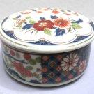 Takahashi Porcelain Imari Style Round Trinket Snuff Box Japan 1970s 94103