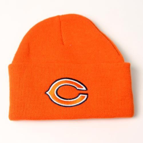 Chicago Bears Orange Cuffed Knit Beanies Cap