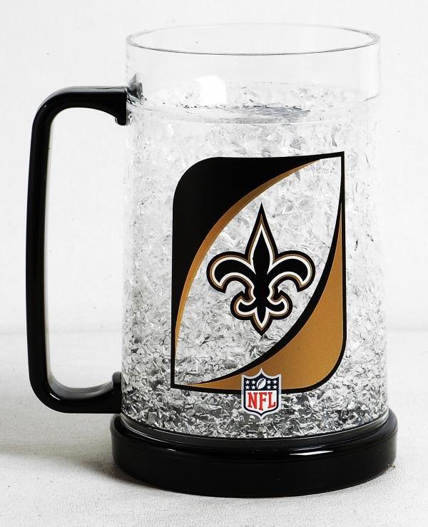 New Orleans Saints 16oz Crystal Freezer Mug