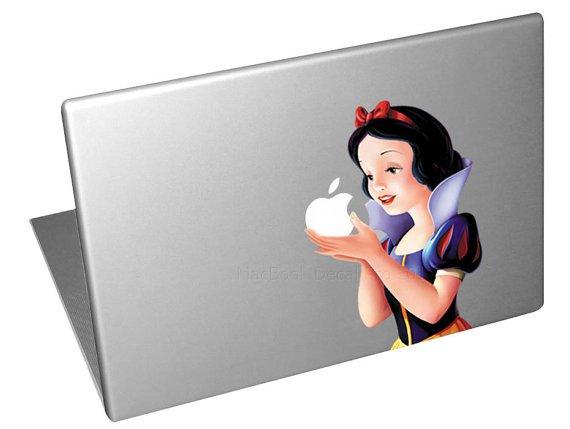"""Snow white Macbook pro Decals sticker Apple macbook decals sticker Vinyl mac decals 11"""" 13"""" 15""""17"""""""