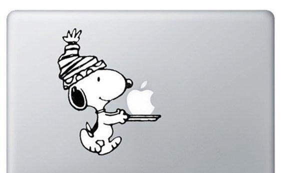 "Snoopy Macbook pro Decals sticker Apple macbook decals sticker Vinyl mac decals 11"" 13"" 15""17"""