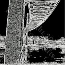 Bob Kerrey Pedestrian Bridge Cross Stitch Pattern