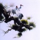 Crane and pine tree