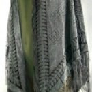 Shawls with Leaf Pattern Burnout Design