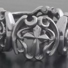 925 SILVER CUSTOM GOTHIC CROSS CHOPPER CRUSADER BIKER CHOPPER RING sz N TO Z3