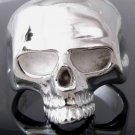 SILVER PLATED KEITH RICHARD COOL SKULL RING sz SZ R 1/2, T 1/2, V 1/2 = 9,10,11