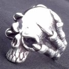 925 SILVER IRON SKULL CLAW FANG BIKER CHOPPER CUSTOM ROCK STAR KING RING SZ N-Z3