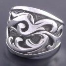 925 SILVER TRIBAL TATTOO CHOPPER BIKER RING SZ N to Z3