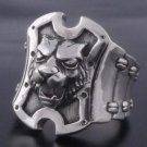CUSTOM 925 SILVER LION COUGAR PUMA WATCHBAND CHOPPER BIKER KING RING SZ N to Z3