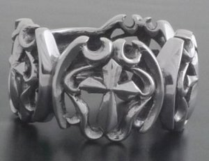 925 SILVER GOTHIC CELTIC CROSS CRUSADER BIKER RING sz N TO Z4 / US sz 7 to 15
