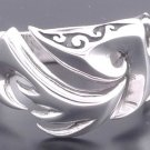 925 SILVER TATTOO FIRE CHOPPER BIKER RING SZ N to Z3 / US sz 7 to 15