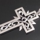 925 STERLING SILVER TRIBAL CELTIC GOTHIC CROSS BIKER PENDANT