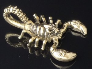 BRASS SCORPION CHOPPER BIKER PENDANT